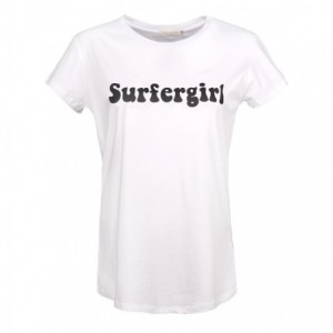 Tee-Shirt Coton Blanc Surfergirl Belle & Toile