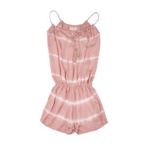 Combishort Rose Tie and Die Fille Belle & Toile