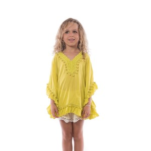 Pancho Pompon Fille Vert Anis Belle & Toile
