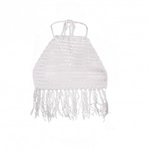 Top Crochet Franges Fille Blanc Belle & Toile