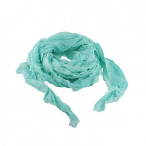 Echarpe Voile Coton Relax Turquoise Belle & Toile