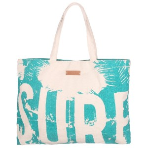 Totebag Sac Plage Surf Turquoise Belle & Toile