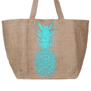 Sac Jute Ananas Turquoise Belle & Toile