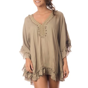 Pancho Pompons Beige Belle & Toile