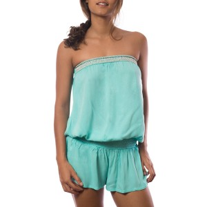 Combishort Perles Brodées Turquoise Belle & Toile