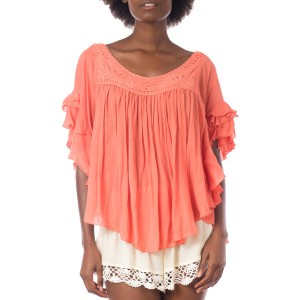 Top Volant crochet Corail Belle & Toile