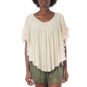 Top Volant crochet Vanille Belle & Toile