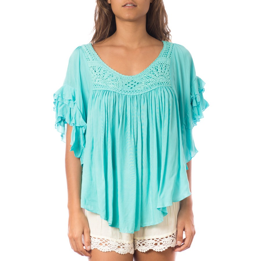 Top Volant crochet Lagon Belle & Toile