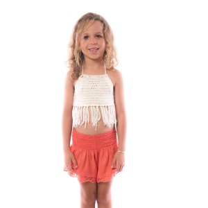 Short Crochet Fille Corail Belle & Toile