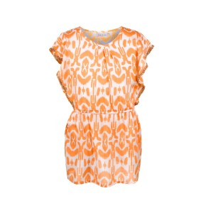 Robe Imprimée Fille Orange Belle & Toile