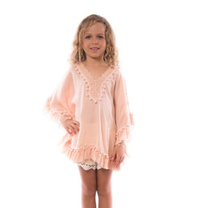 Pancho Pompon Fille Rose Belle & Toile