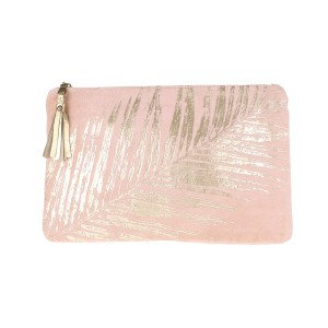 Pochette Velours Rose Palme Doree Belle & Toile